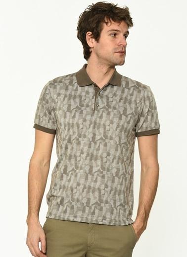 George Hogg Erkek 7004669 Regular Fit Tshirt Bej